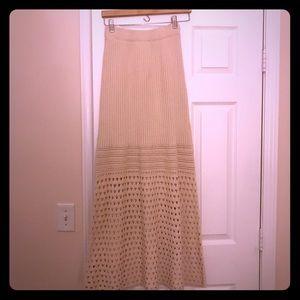 Free People Crochet Maxi Skirt